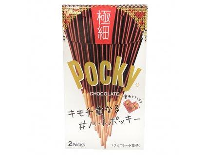 Glico Pocky Gokuboso Chocolate Balení (2x37,7g) 75,4g JAP