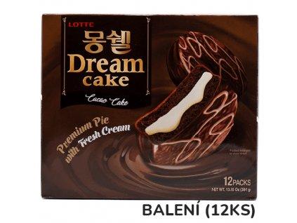 Lotte Moncher Dream Cake Cacao S Krémem Balení (12x32g) 384g KOR