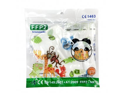 Dětský Respirátor FFP2 Zvířátkový Motiv Bílý 1ks CHN