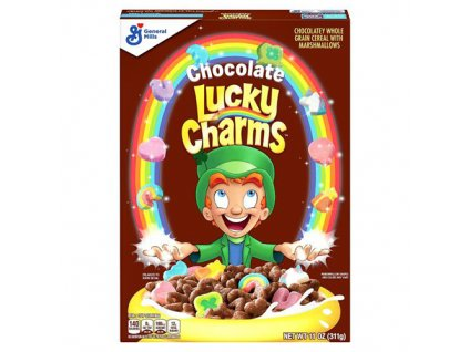 Lucky Charms Chocolate Snidaňové Cereálie 311g USA