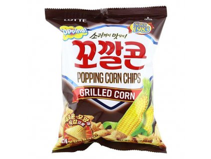 Lotte Popping Corn Chips Grilled Corn 72g KOR