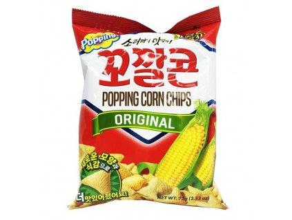 Lotte Popping Corn Chips Original 72g KOR