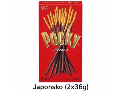 Glico Pocky Chocolate Balení (2x36g) 72g JAP