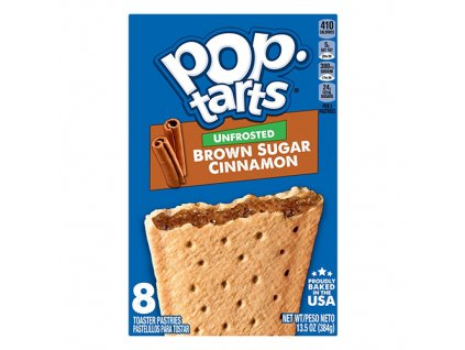 Pop Tarts Unfrosted Brown Sugar Cinnamon Balení 384g USA