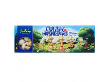 Miltonas Funny Mushrooms White chocolate Mini Biscuits Sušenky 170g LTV