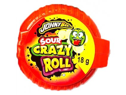 Johny Bee Crazy Roll Bubble Gum Kyselý Meloun 18g POL