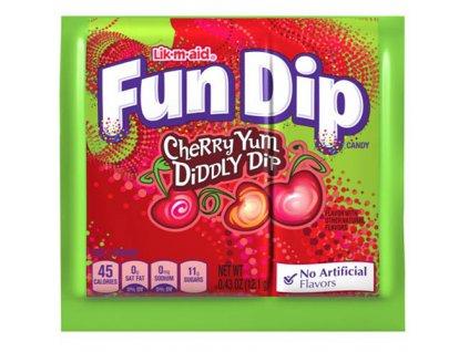 Wonka Fun Dip Lízátko A Prášek Cherry 12,1g MEX