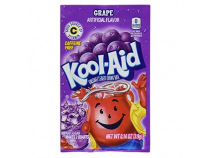 Kool Aid Instatní Ovocný Nápoj Grape 1ks 3,6g USA