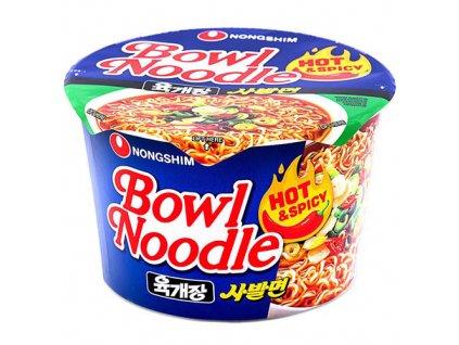 Nongshim Bowl Noodle Hot Spicy Instantní Nudle v Misce 100g KOR