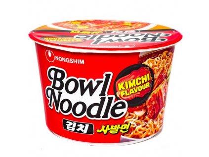 Nongshim Bowl Noodle Kimchi Flavour Instantní Nudle v Misce 100g KOR