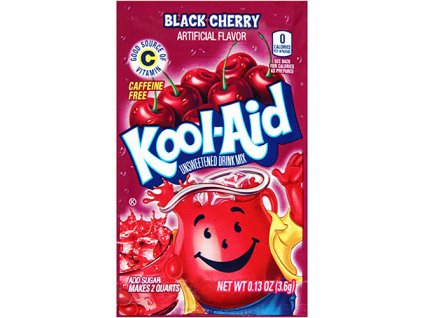 Kool Aid Instantní Ovocný Nápoj Black Cherry 1ks 3,6g USA