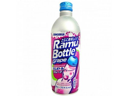 Sangaria Ramu Soda Drink Hrozny Plechová Lahev 500ml JAP