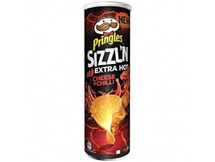 Pringles Sizzl'n Extra Hot Cheese & Chilli 180g BEL