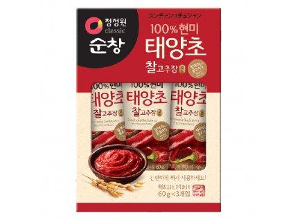 Hot Pepper Paste Chili Papričky Balení (3x60g) KOR