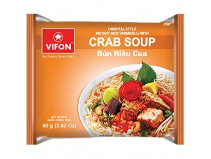 Vifon Crab Soup Bun Rieu Cua Krabí Instantní Polévka 80g VNM
