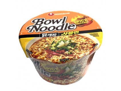 Bowl Noodle Spicy Chicken Instantní Nudle V Misce 100G KOR