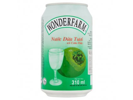 Wonderfarm Young Coconut Water 310ml VNM