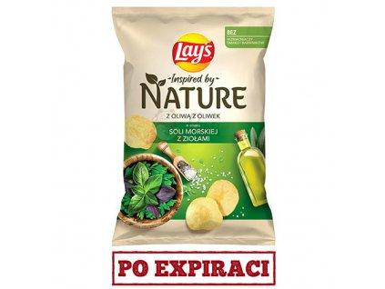 Lay's Nature S Olivovým Olejem Mořská Sůl A Bylinky 120g POL