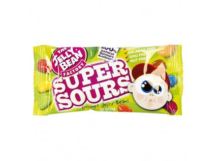 The Jelly Bean Factory Super Sours Bonbóny 50g IRL