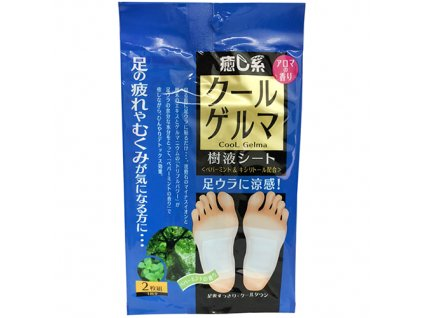 HADA RiKi Hot Gelma Foot Pad Healer Hojivé Náplasti Na Chodidla Mint 1 pár JAP