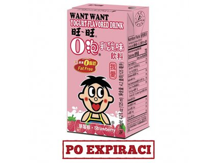 Want Want Strawberry Yogurt Drink 125ml CHN