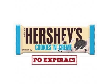 Po Expiraci Hershey's Cookies 'n' Creme 43g USA