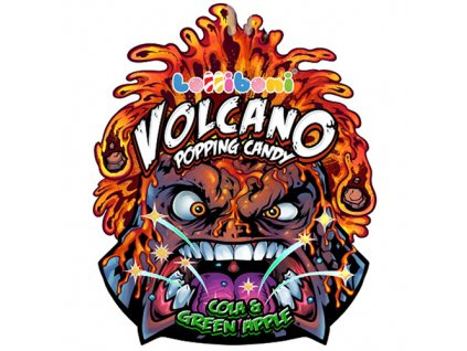 Volcano Popping Candy Cola&Green Apple 18g CHN