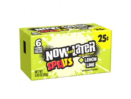 Now And Later Splits Lemon Lime 6 Pieces Pack 26g MEX