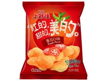 bundle of 3oishi farm potato chips tomoto flavor 50g