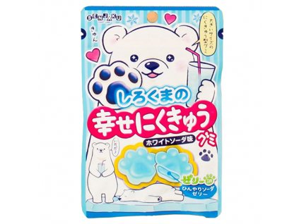 PUNI-FUWA Senjaku Polar Bear Jelly Paws White Soda Candy 32g JAP