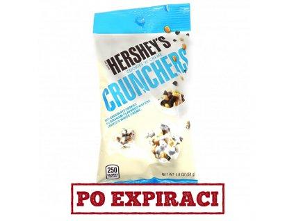 Po Expiraci Hershey's Cookies 'n' Creme Crunchers Tube 51g USA