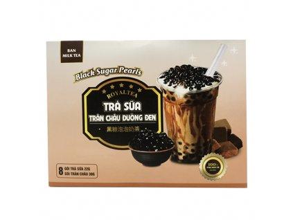 Royaltea Ban Milk Tea Bubble Tea Black Sugar Pearls Balení (8ks) 416g VNM