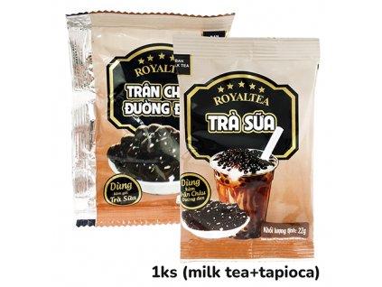Royaltea Ban Milk Tea Bubble Tea Black Sugar Pearls 1ks (22g+30g) VNM