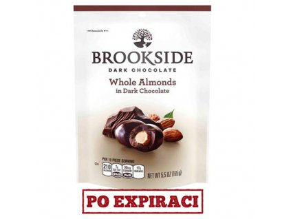Po Expiraci Brookside Dark Chocolate Whole Almonds 155g USA