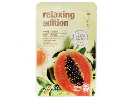 MASK ON Relaxing Edition Papaya Sheet Mask 23ml KOR