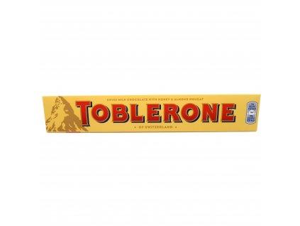 Toblerone Švýcarská mléčná čokoláda s medem a mandlovým nugátem - PEPIS.SHOP