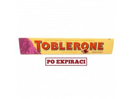 Toblerone švýcarská mléčná čokoláda s rozinkami, medem a mandlovým nugátem 100g CH