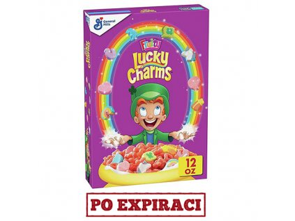Po Expiraci Lucky Charms Fruity Snídaňové Cereálie 340g USA