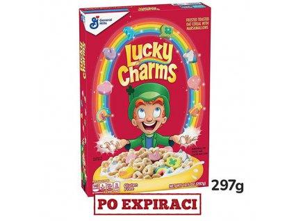 Po Expiraci Lucky Charms Medové Kroužky Snídaňové Cereálie 297g USA