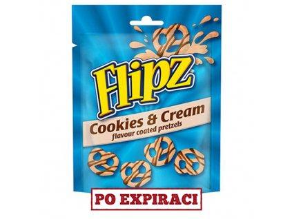 Po Expiraci Flipz Cookies & Cream Pretzels 90g UK