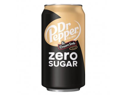 Dr. Pepper Cream Soda Zero Sugar 355ml USA
