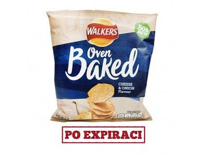 Po Expiraci Walkers Oven Baked Pečené Brambůrky Sýr A Cibule 25g UK
