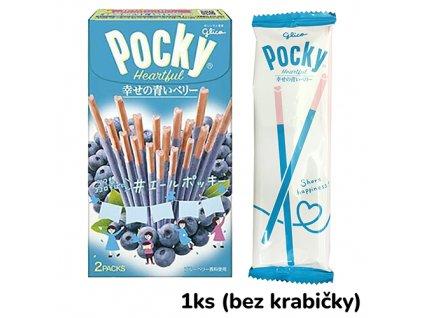 Glico Pocky Heartful Blueberry 1ks 24.9g JAP