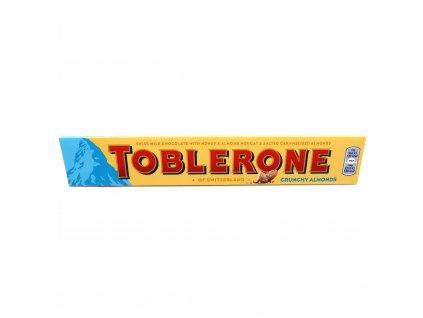 Toblerone Švýcarská mléčná čokoláda se slanými zkaramelizovanými mandlemi - PEPIS.SHOP