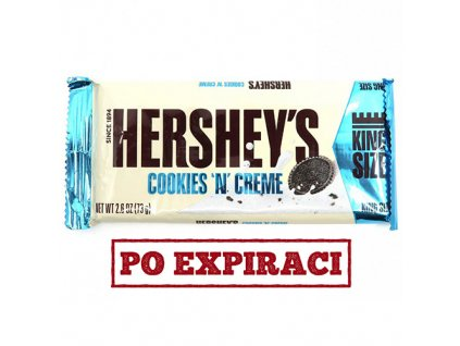 Po Expiraci Hershey's Cookies 'n' Creme King Size 73g USA