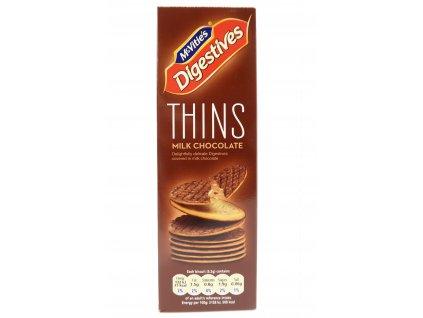 McVitie's thins oplatky s mléčnou čokoládou 180g