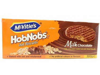 McVitie's HobNobs ovesné koláčky s mléčnou čokoládou 300g