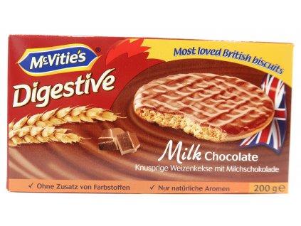 McVitie's digestive oplatky s mléčnou čokoládou 200g