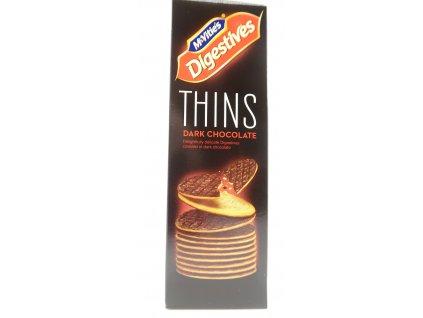 McVitie's thins oplatky s tmavou čokoládou 180g