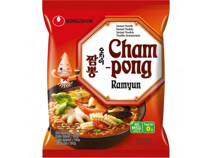 nongshim champong ramen seafood 124g